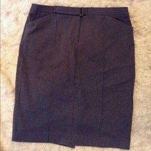 Express high waist grey pencil skirt size 3/4